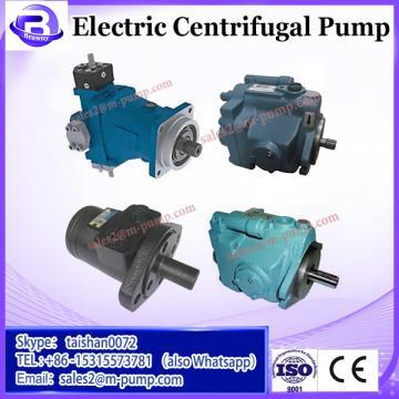 Electric high efficiency high pressure centrifugal pump