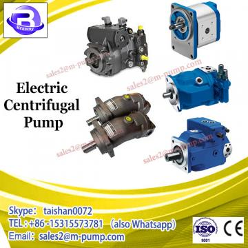 Specification of electric centrifugal pump for water
